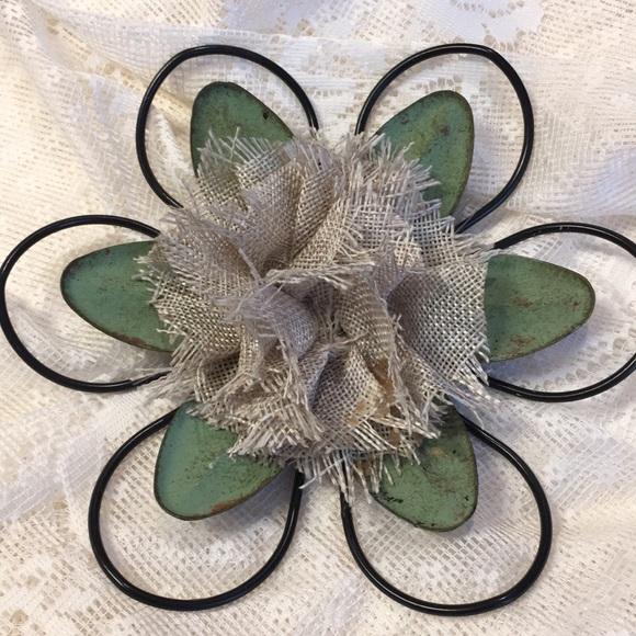 Vintage Burlap Flower!